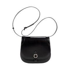 "Brand new limited edition Moynat ""Mignon"" handbag crossbody in black calf"