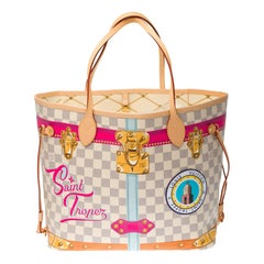 """Brand New- Limited Edition """"Saint-Tropez""""-Neverfull MM Tote in Monogram canvas"""