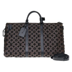 BRAND NEW Louis Vuitton Keepall Bandouliere Triangle 50 in brown canvas !
