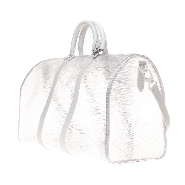 BRAND NEW Louis Vuitton Keepall Bandouliere Wavy 50 Epi Plage White  In New Condition For Sale In Paris, Paris