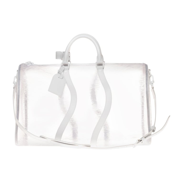 BRAND NEW Louis Vuitton Keepall Bandouliere Wavy 50 Epi Plage White  For Sale
