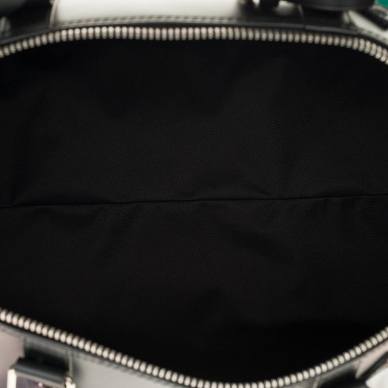 BRAND NEW Louis Vuitton Keepall Strap Flagship 50 in black calfskin ! For Sale 3