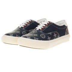 BRAND NEW Louis Vuitton Sneakers in black monogram canvas, size 7