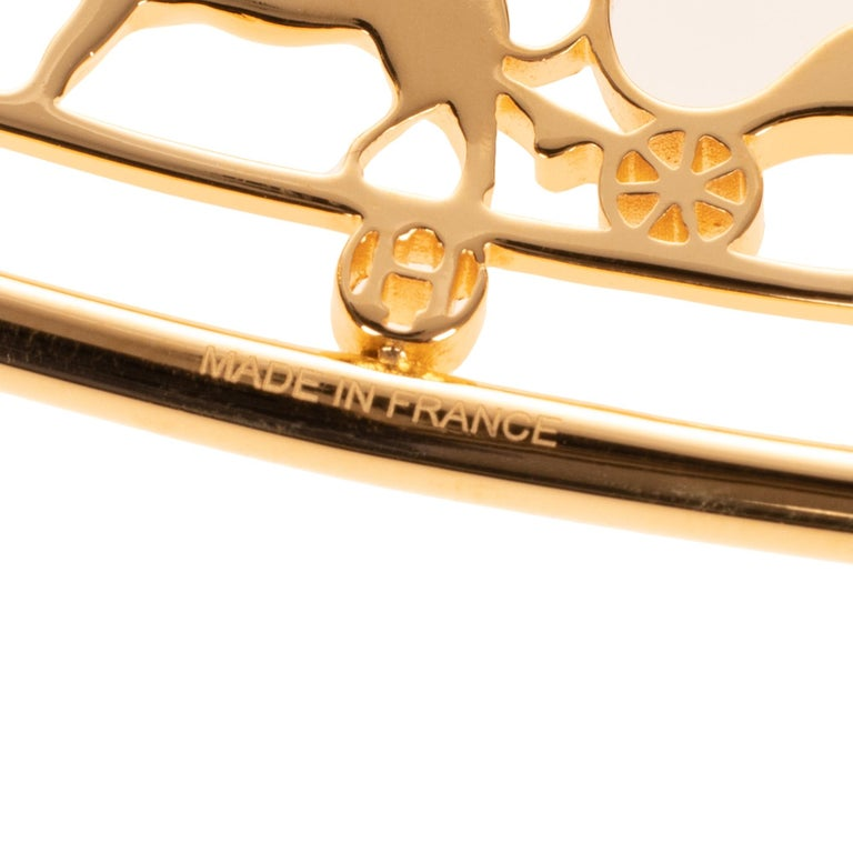 Brand new & New collection Hermes Calèche shiny Gold Belt Buckle ! In New Condition For Sale In Paris, Paris