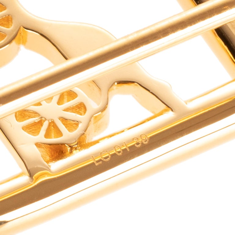 Brand new & New collection Hermes Calèche shiny Gold Belt Buckle ! For Sale 1