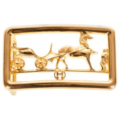 Brand new & New collection Hermes Calèche shiny Gold Belt Buckle !