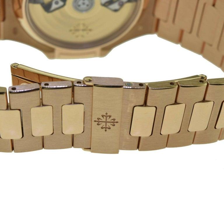 Women's or Men's Brand New Patek Philippe Nautilus 5980/1R-001 Rose Gold with Box 'P-20'