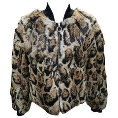 Brand New Roberto Cavalli Rex Rabbit Fur Jacket (Size 6-S)