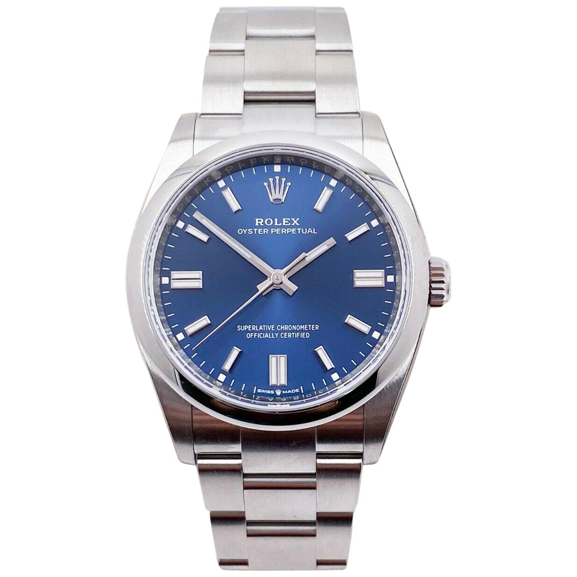 Rolex 126000 Oyster Perpetual Blue Dial Stainless Steel Box Paper 2020