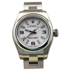 Brand New Rolex 176200 Oyster Perpetual White Dial Stainless Box Papers Stickers