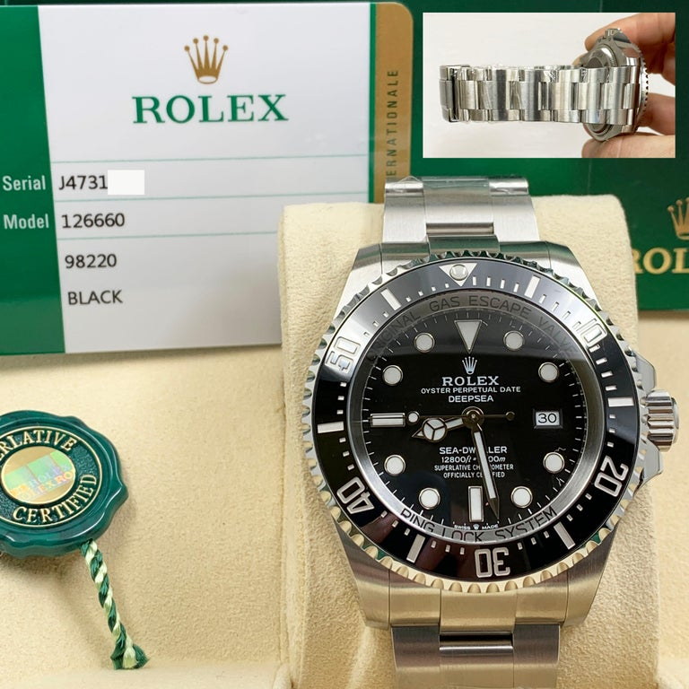 Rolex Seadweller 126660 Black Dial Bezel Stainless Box Papers For Sale 3