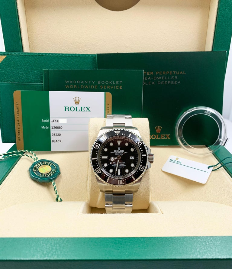Rolex Seadweller 126660 Black Dial Bezel Stainless Box Papers For Sale 4