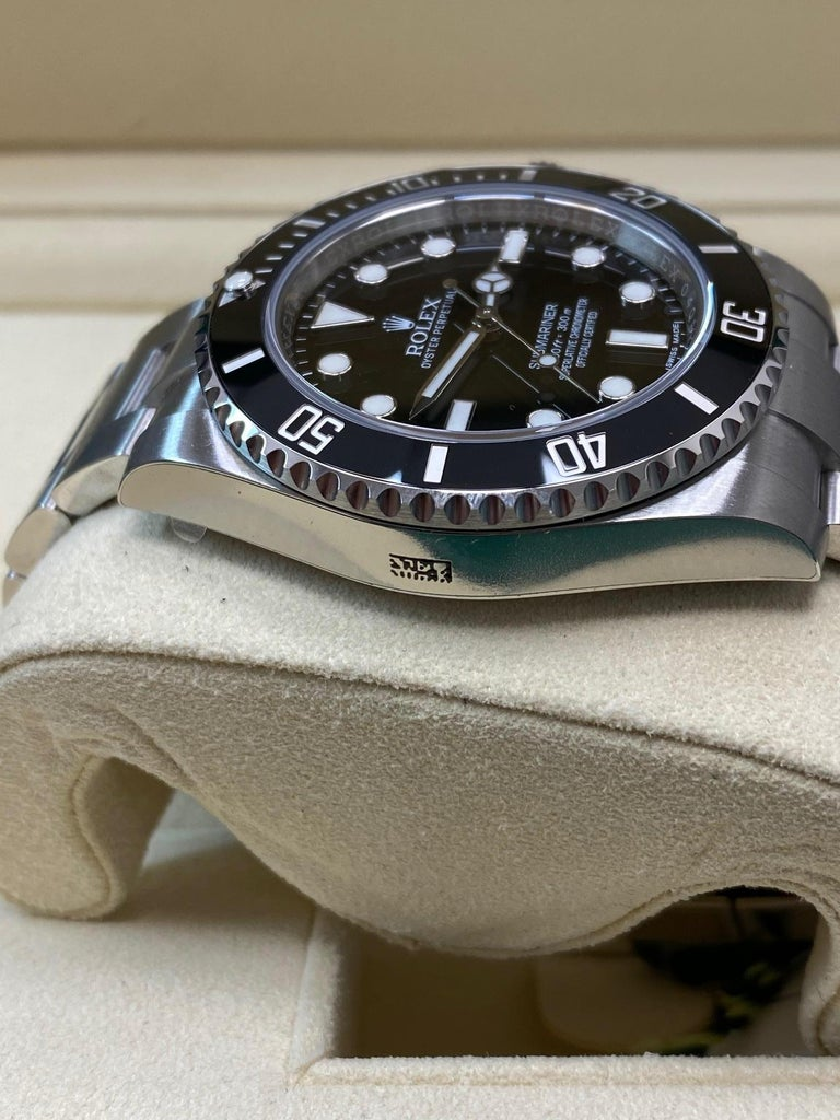 Rolex Submariner 114060 Black Ceramic Stainless Steel Box Paper For Sale 2