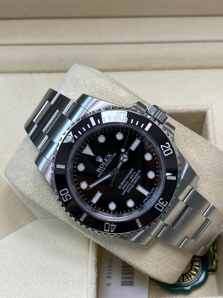 Rolex Submariner 114060 Black Ceramic Stainless Steel Box Paper For Sale 5