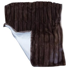 "Brand new russian barguzin sable fur blanket Queen size  90"" / 90""-100"""