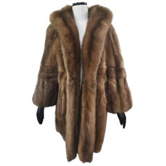 Brand New Sable Fur Coat (Size 20-22 XXL)