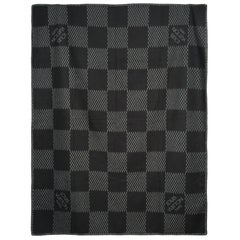 BRAND NEW / Stunning Louis Vuitton Plaid grey and black in Wool & Cachmere