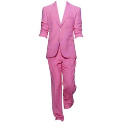 BRAND NEW VERSACE TAILOR MADE PINK LINEN SUIT for MEN