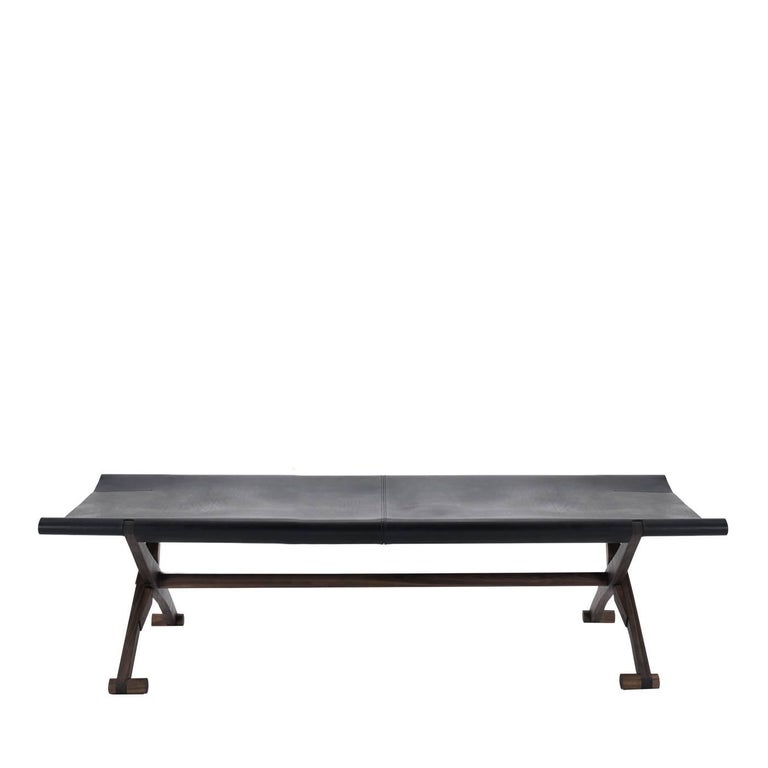 Branda Leather Bench In New Condition For Sale In Milan, IT
