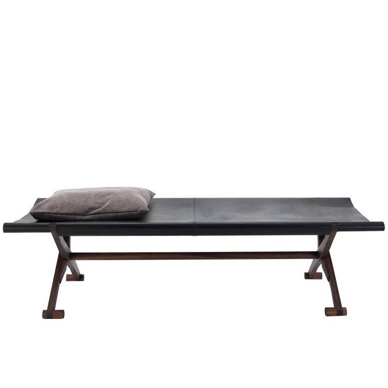 Branda Leather Bench