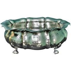 Brandimarte 20th Century Italian Art Deco Hammered Silver Bowl, 1950s