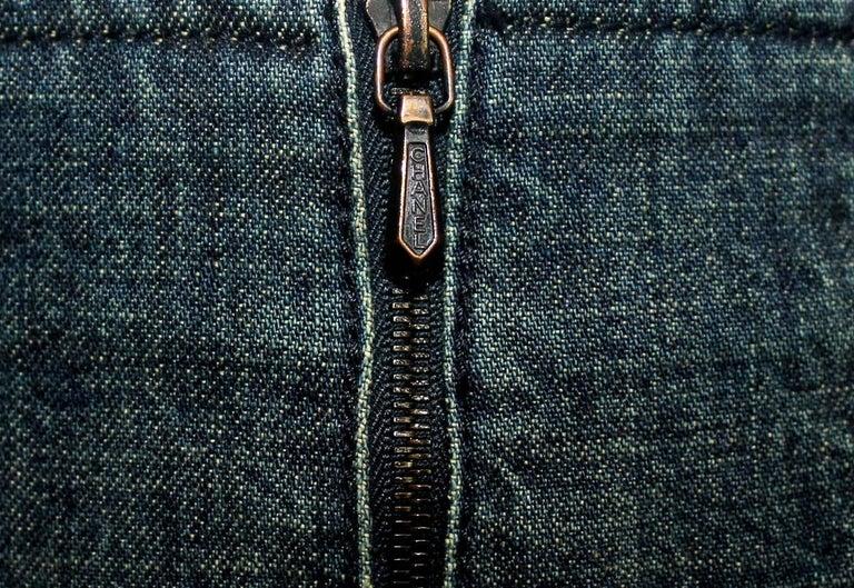 Brandnew Chanel Denim Jeans Hot Pants Shorts with Zipper Details For Sale 1