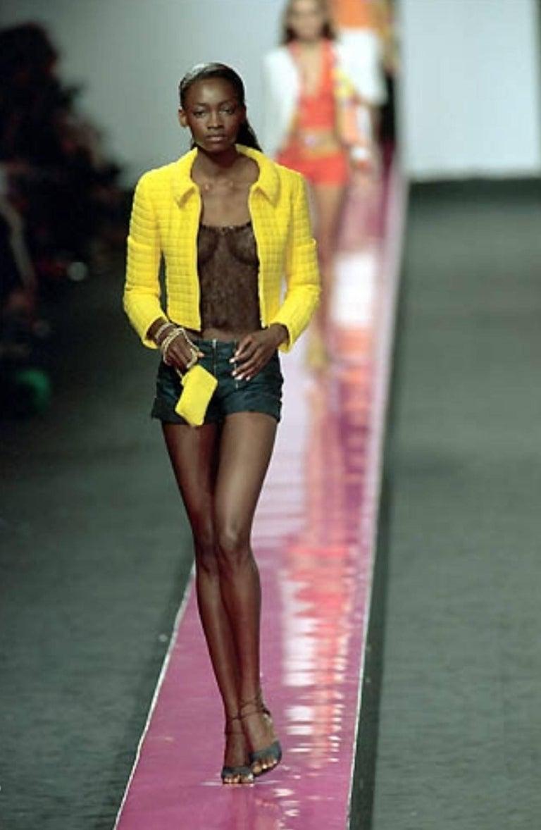Brandnew Chanel Denim Jeans Hot Pants Shorts with Zipper Details For Sale 2