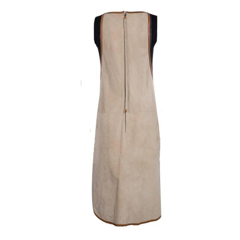 BEAUTIFUL HERMES SUEDE LEATHER SHIFT DRESS  A HERMES STATEMENT PIECE THAT WILL LAST YOU FOR MANY YEARS  Find this timeless piece in brandnew, unworn condition for a fraction of the retail price.      Beautiful HERMES suede shift dress     Finest,