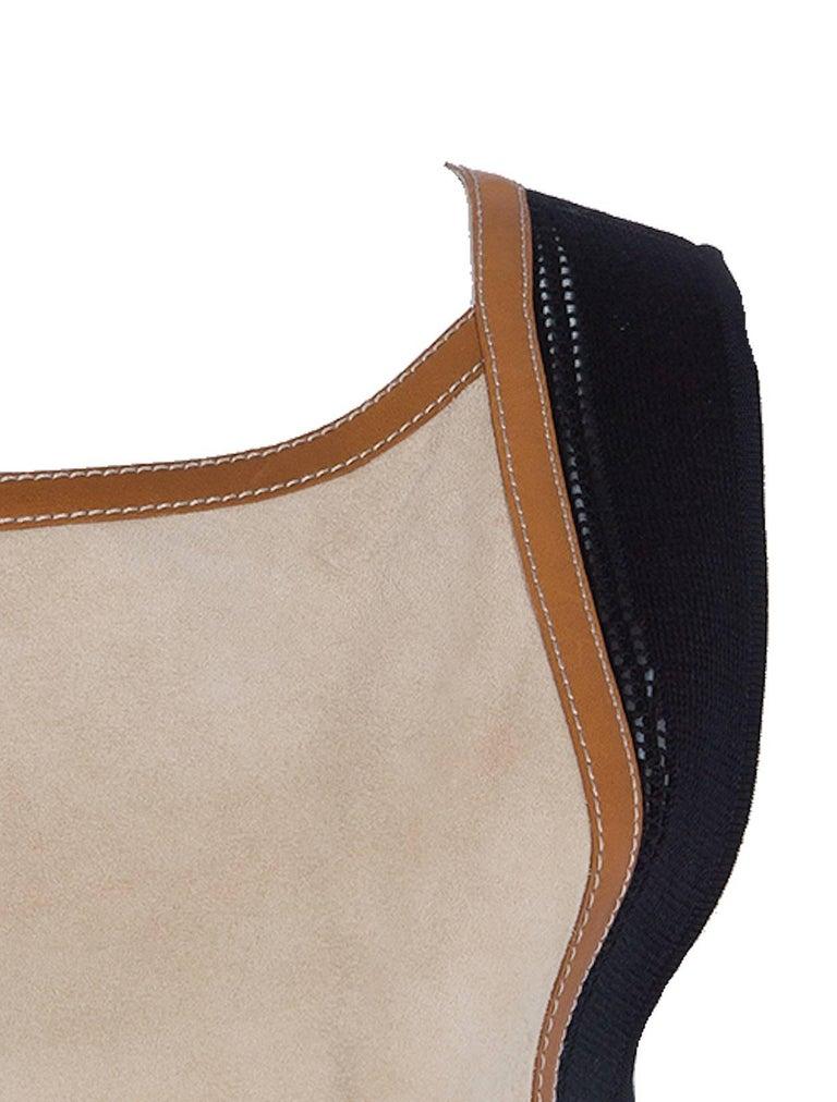 Brown NEW Hermès Paris Suede Leather Shift Dress For Sale