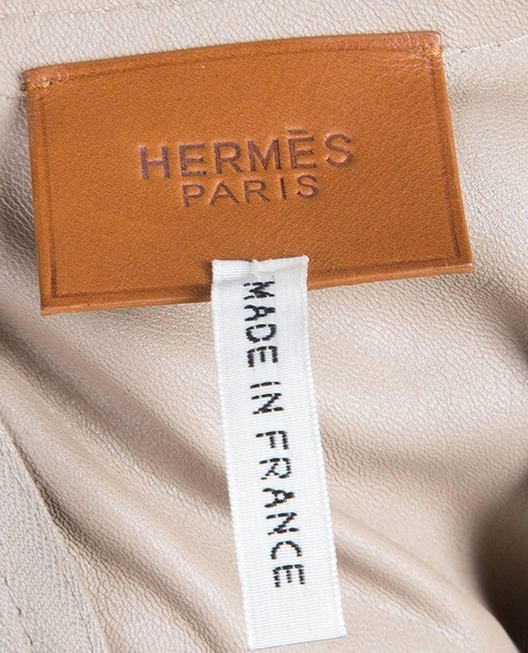 Women's NEW Hermès Paris Suede Leather Shift Dress For Sale