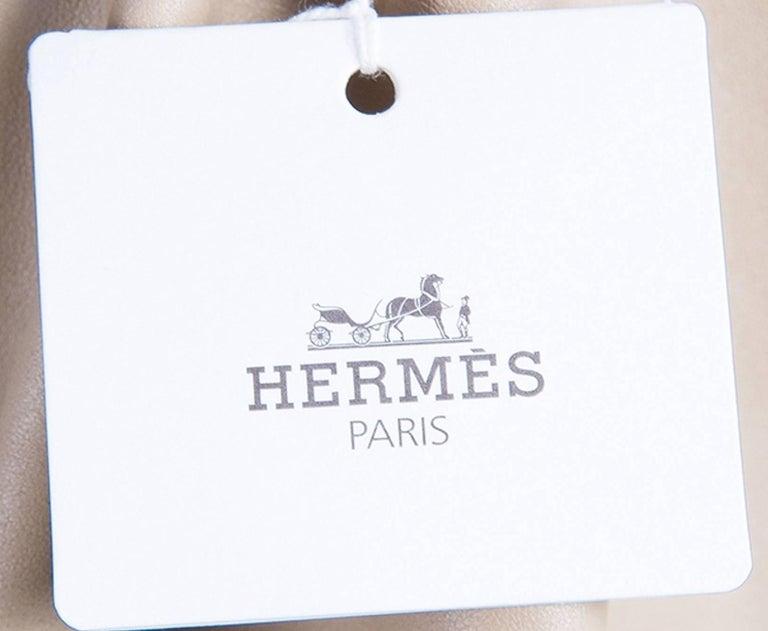 NEW Hermès Paris Suede Leather Shift Dress For Sale 1