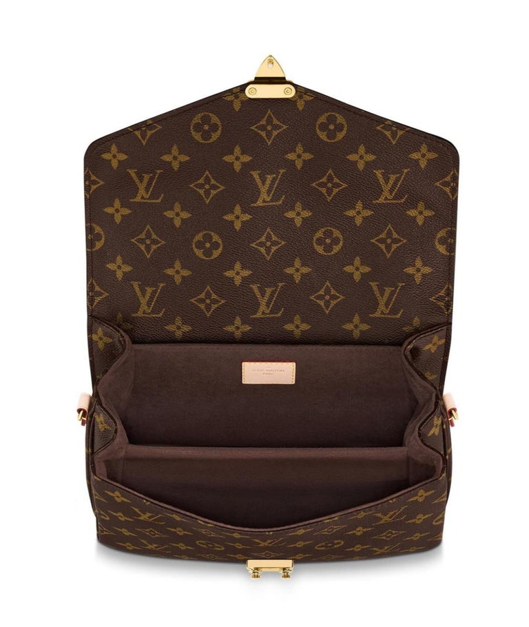 NEW Louis Vuitton Pochette Metis Monogram Canvas Hand Bag with Strap In New Condition For Sale In Switzerland, CH