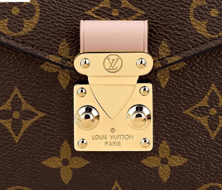 Women's or Men's NEW Louis Vuitton Pochette Metis Monogram Canvas Hand Bag with Strap For Sale