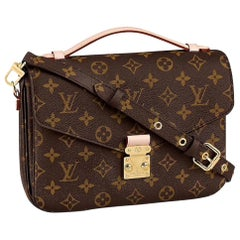 NEW Louis Vuitton Pochette Metis Monogram Canvas Hand Bag with Strap