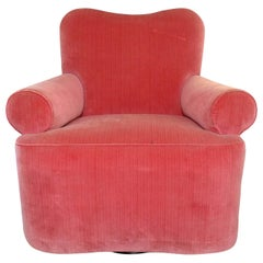 Brandolini Style Club Chair with Swivel Base
