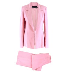Brandon Maxwell Pink Crepe Suit  US SIZE 8/6