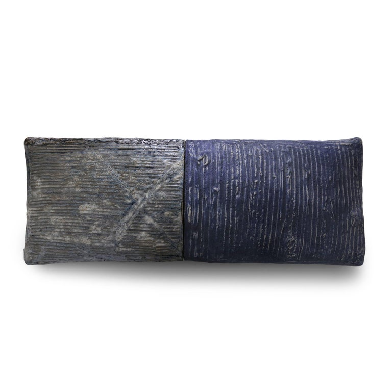 Brandon Reese Abstract Sculpture - WEATHERED BLUE