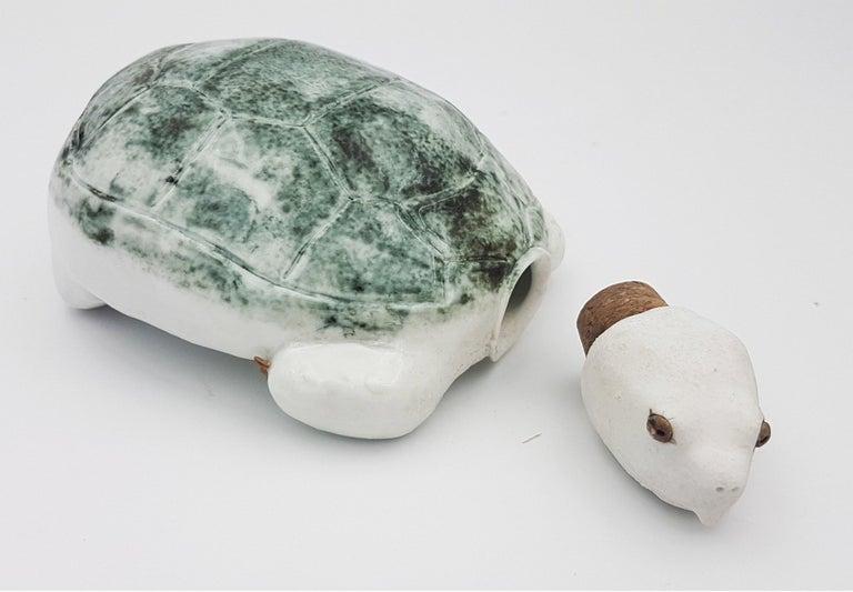 Green Turtle Flask - Sculpture by Brandon Schnur