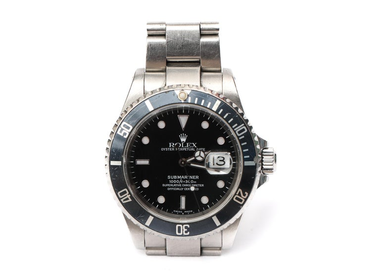 Rolex Submariner Date Oyster Perpetual Chronometer Diver's Wristwatch  Beauty, Brains, Balls and a How-To Manual all in one Package!  Own a piece of history with this Iconic Rolex infused with adventure and stories it will never tell... worn by