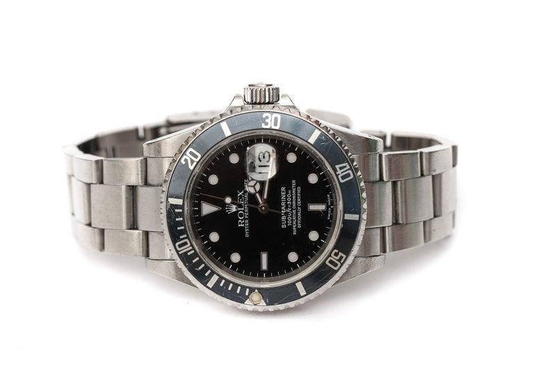 Men's Brandon Webb Rolex Submariner Diver's Wristwatch For Sale