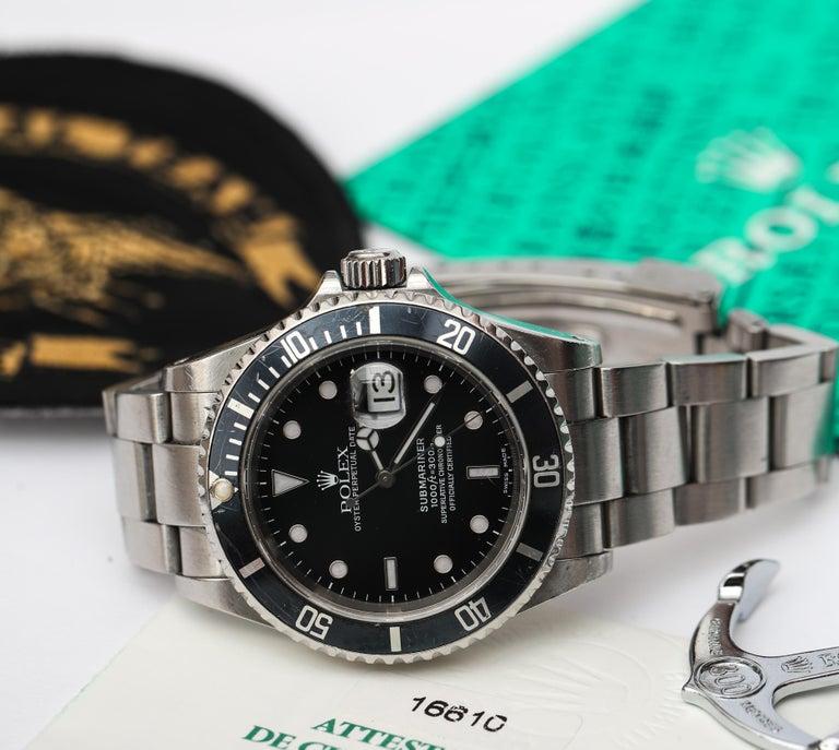 Brandon Webb Rolex Submariner Diver's Wristwatch For Sale 1