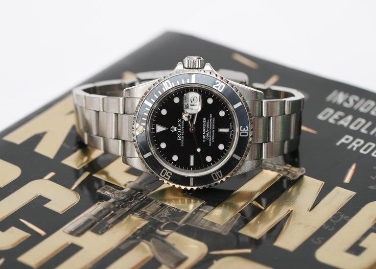 Brandon Webb Rolex Submariner Diver's Wristwatch For Sale 2