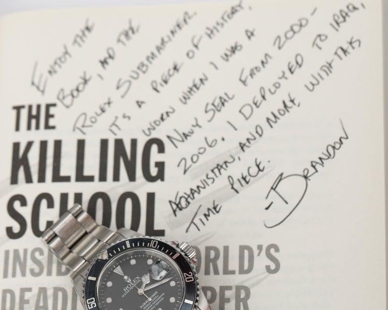 Brandon Webb Rolex Submariner Diver's Wristwatch For Sale 3