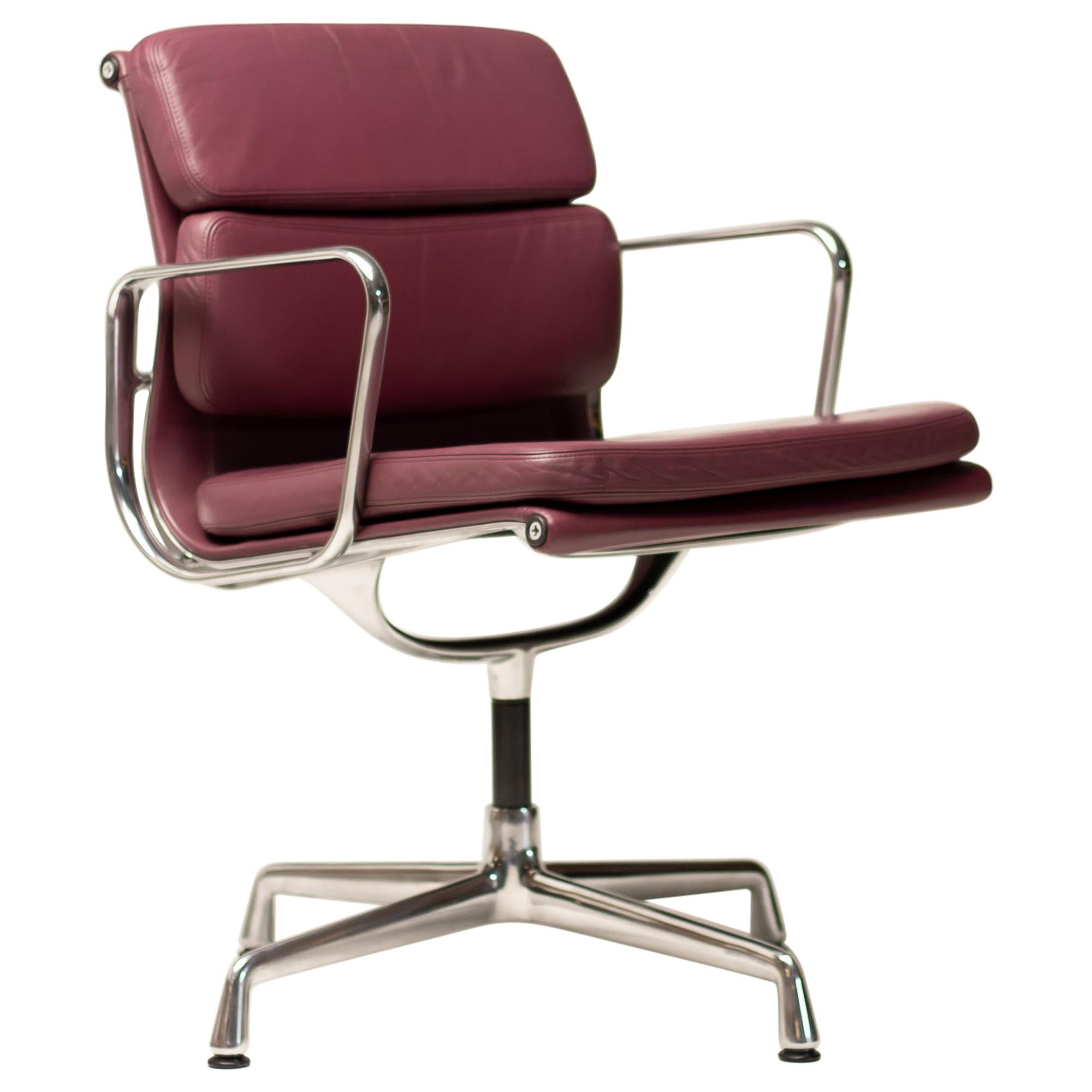 Brandy Leather Soft Pad Chairs by Charles & Ray Eames for Vitra