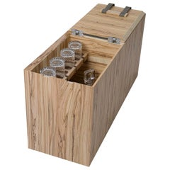 Brandy Olive-Wood Bottle-Holder Table