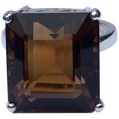 Brandy Topaz Ring Set in Sterling Silver