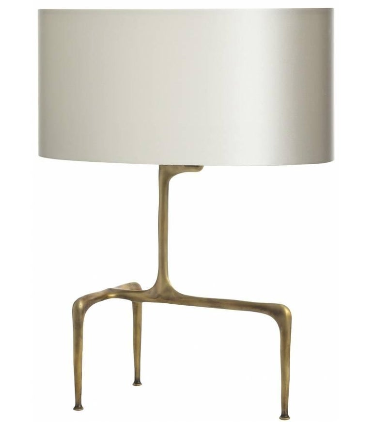 Modern Braque Bronze Table Lamp For