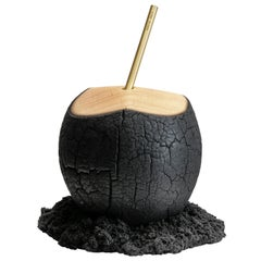 """""""Brasa"""" Contemporary Sculpture Coconut by Marcos Amato, Limited Edition"""