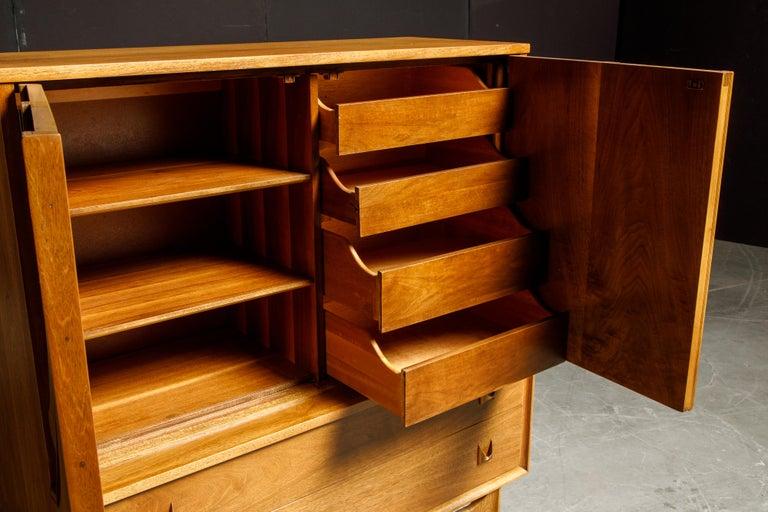 'Brasilia' by Broyhill Premier Highboy Dresser, Refinished, 1960s, Signed  For Sale 8