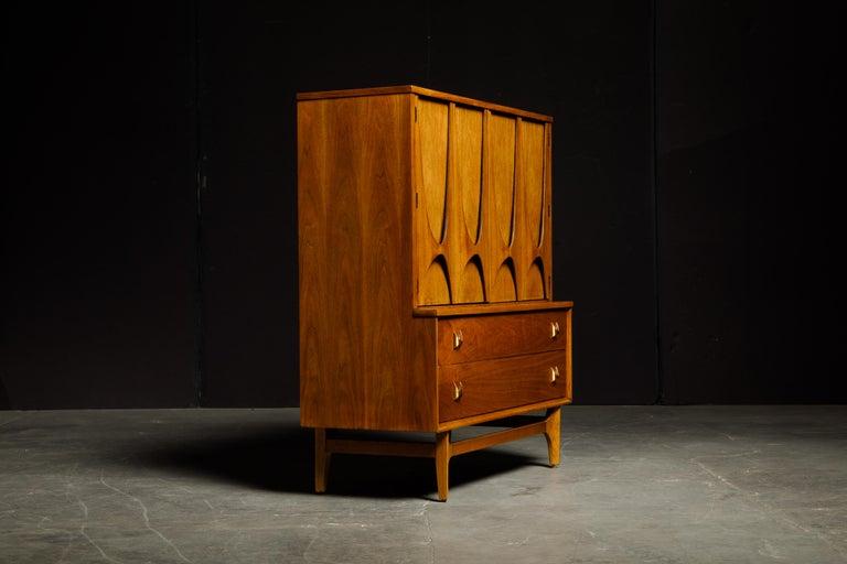 American 'Brasilia' by Broyhill Premier Highboy Dresser, Refinished, 1960s, Signed  For Sale